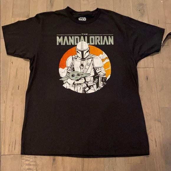 NWT Star Wars Mandalorian w/ Baby Yoda T Shirt